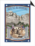 Mount Rushmore National Memorial, SD Prints by  Lantern Press