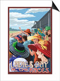 Kentucky - Ladies Day at the Track Horse Racing Poster by  Lantern Press