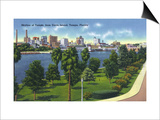 Tampa, Florida - Davis Island, Skyline View Posters by  Lantern Press