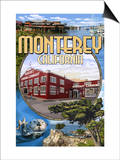 Monterey, California - Montage Scenes Poster by  Lantern Press