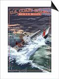 U.S. Coast Guard - 44 Foot Motor Life Boat Prints by  Lantern Press