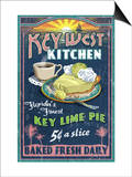 Key West, Florida - Key Lime Pie Prints by  Lantern Press