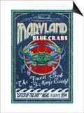 Blue Crabs - St Mary's County, Maryland Prints by  Lantern Press