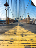 Historical Landmark of Brooklyn Bridge in New York City, New York Prints