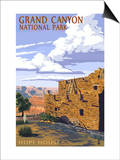 Grand Canyon National Park - Hopi House Art by  Lantern Press