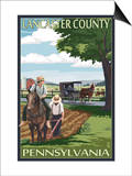 Lancaster County, Pennsylvania - Amish Farm Scene Prints by  Lantern Press