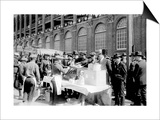 Fans buying hot dogs at Ebbets Field, Brooklyn Dodgers, Baseball Photo - New York, NY Prints by  Lantern Press