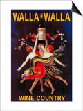Women Dancing with Wine - Walla Walla, Washington Posters by  Lantern Press