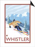 Downhhill Snow Skier, Whistler, BC Canada Prints by  Lantern Press