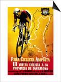 Cartel de carrera ciclista Arte por  Lantern Press
