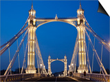 England, London, Chelsea, Albert Bridge Posters by Steve Vidler