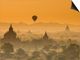 Bagan at Sunset, Mandalay, Burma (Myanmar) Print by Nadia Isakova