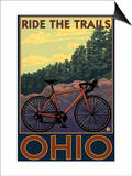 Ohio - Bicycle Ride the Trails Print by  Lantern Press