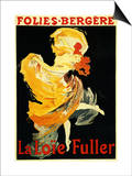 Paris, France - Loie Fuller at the Folies-Bergere Theatre Promo Poster Art by  Lantern Press