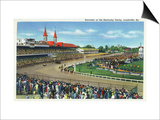 Louisville, Kentucky - Souvenir of the Kentucky Derby; Race Scene Prints by  Lantern Press