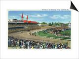 Louisville, Kentucky - Souvenir of the Kentucky Derby; Race Scene Prints