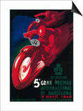 Barcelona, Spain - 5 Gran Premio International Motorcycle Poster Prints