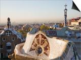 Spain, Barcelona, Guell Park, the Terrace Posters by Steve Vidler