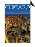 Chicago, Illinois, View of City from Sears Tower Posters by  Lantern Press