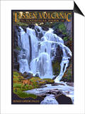 Kings Creek Falls - Lassen Volcanic National Park, CA Láminas por  Lantern Press