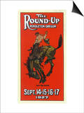Advertisement for the Round-Up - Pendleton, OR Prints by  Lantern Press