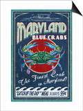 Maryland Blue Crabs Posters by  Lantern Press