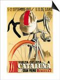 Pubblicità di corsa ciclistica Arte di  Lantern Press
