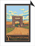Park Entrance Arch, Yellowstone National Park, Wyoming Prints by  Lantern Press