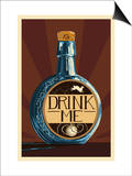 Drink Me Bottle Print by  Lantern Press