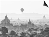 Balloon Over Bagan at Sunrise, Mandalay, Burma (Myanmar) Prints by Nadia Isakova