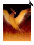 The Mythical Phoenix Rising from Ashes Art