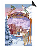 Steamboat Springs, Colorado Montage Print