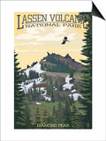 Diamond Peak - Lassen Volcanic National Park, CA Poster by  Lantern Press