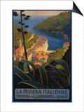 La Riviera Italienne: From Rapallo to Portofino Travel Poster - Portofino, Italy Prints