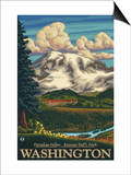 Paradise Inn, Mt. Rainier National Park, Washington Prints by  Lantern Press