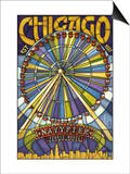 Chicago's Navy Pier and Ferris Wheel Posters by  Lantern Press