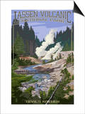 Devil's Kitchen - Lassen Volcanic National Park, CA Prints by  Lantern Press