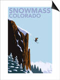 Snowmass, Colorado - Skier Jumping Prints by  Lantern Press
