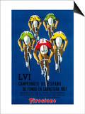 Divulgação de corrida de bicicleta Posters por Lantern Press