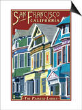 San Francisco, California - Painted Ladies Posters by  Lantern Press