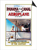 Panama - Panama and the Canal Aeroplane Movie Promo Poster Prints by  Lantern Press