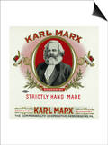 Karl Marx Brand Cigar Box Label, Karl Marx Print by  Lantern Press