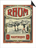 Rhum Martinique Brand Rum Label Art by  Lantern Press