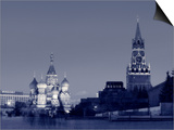 St. Basil's Cathedral and Kremlim, Red Square, Moscow, Russia Prints by Jon Arnold