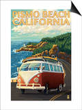 Pismo Beach, California - VW Coastal Drive Prints