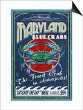 Maryland Blue Crabs - Annapolis Print by  Lantern Press