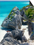 Turquoise Sea and Beach in Tulum, Riviera Maya, Quintana Roo, Mexico Posters by Demetrio Carrasco