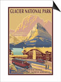 Many Glacier Hotel, Glacier National Park, Montana Prints by  Lantern Press