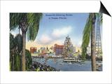 Tampa, Florida - Gasparilla Entering the Harbor Scene Art by  Lantern Press