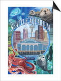 Seattle Aquarium - Seattle, WA Posters by  Lantern Press
